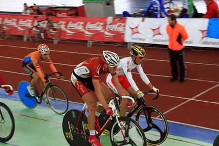 spain championship: Galapagar, Spain - APRIL 6 - Spain Championship Indoor Track Cycling, APR, 6 2012 in Galapagar Spain