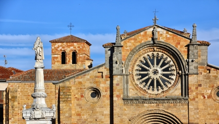 Church of St. Peter (San Pedro) in the city de Avila, Spain photo