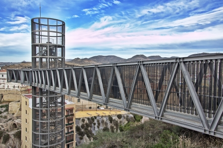 elavator modern bridge in the city of Cartagena Spain photo