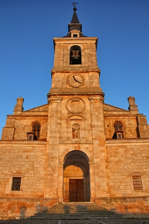 Cathedral on the evening of Lerma in Spain photo
