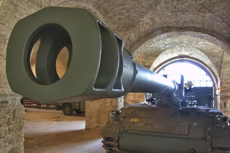 awesome tank cannon in perspective photo