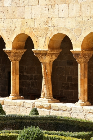 Details of the columns of the famous Monastery of Silos in Spain photo