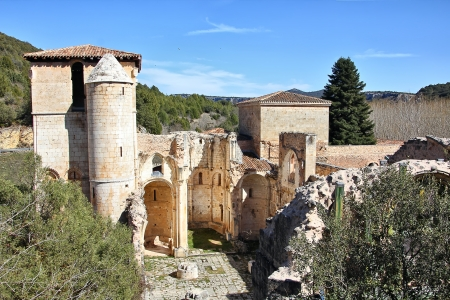 Ruins of the Church of San Pedro de Arlanza in the province of Burgos, Spain photo