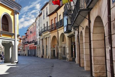 streets of the town of Aranda de Duero in Spain Stock Photo