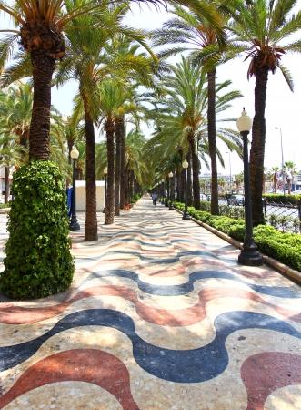 Famous Square La Explanada in Alicante Spain Stock Photo