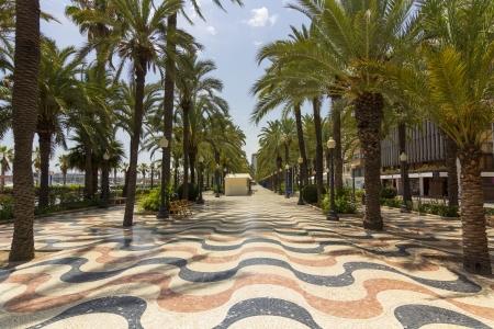 Famous Square La Explanada in Alicante Spain