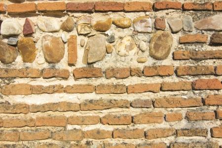 xv century: Symmetric background or texture old brick wall XV century Stock Photo