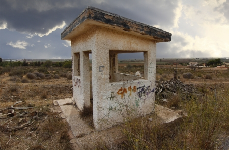 old abandoned security checkpoint Stock Photo - 16980279