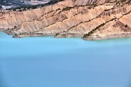 impressive dam colorful waters south of Spain Stock Photo - 17740680