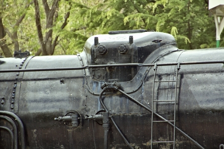 details of a steam train machine photo
