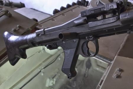 world war ii: old machine gun of World War II Stock Photo