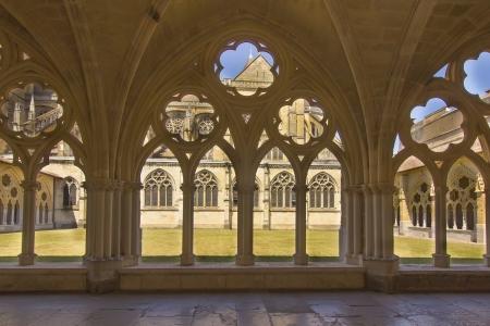 cloister: Old monastery courtyard in Bayonne, France