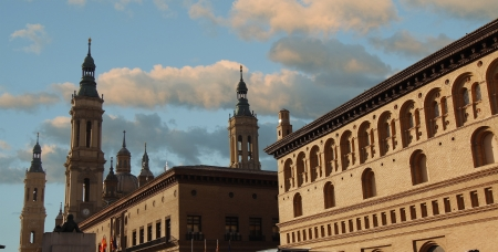 Cathedral Basilica of Nuestra plusmn del Pilar, built in the year 1681 in Zaragoza, Spain