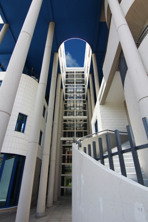 ALICANTE, SPAIN OCT 20: modern architecture in a building with large curved areas on October 20 2012, Building business center of the city of Alicante recently opened. Stock Photo - 18279873