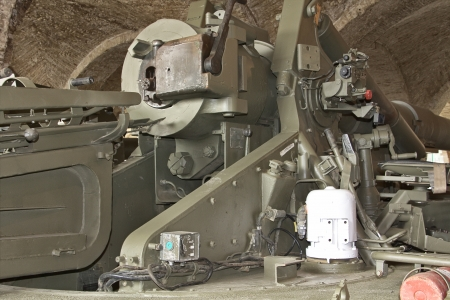 huge machine gun coastal defense photo