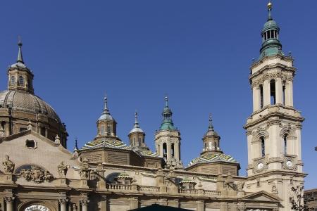Cathedral Basilica of Nuestra Señora del Pilar, built in the year 1681 in Zaragoza, Spain
