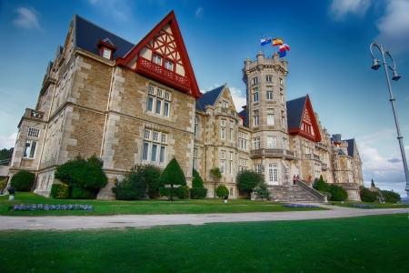 Nice Magdalena Palace in Santander, Spain Editorial