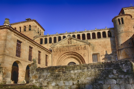 stone of destiny: Collegiate Church of Santa Juliana in Santillana del Mar, Spain