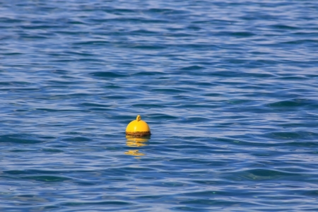 fishing buoy in the blue sea photo