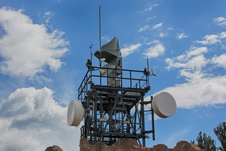 modern coastal radar for sea surveillance photo