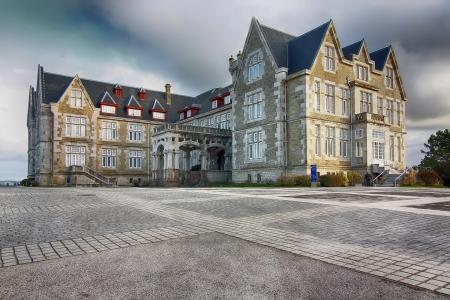 santander: Nice Magdalena Palace in Santander, Spain Stock Photo