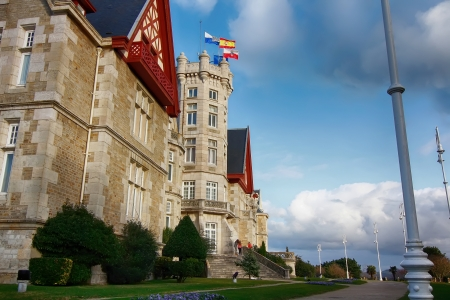 santander: Nice Magdalena Palace in Santander, Spain Editorial