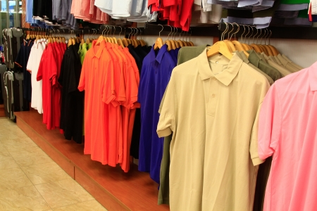 clothing shirts of different colors photo