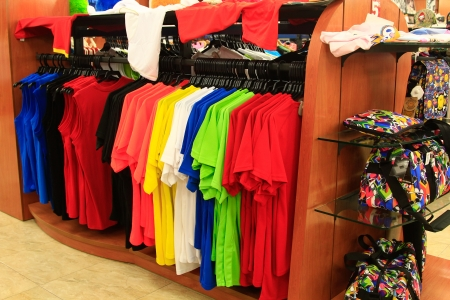 modern and colorful clothing store Stock Photo - 22656083