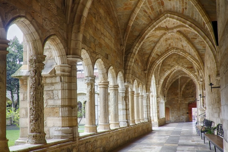 cloister: Cathedral and cloister of Our Lady of the Assumption in Santander, Spain