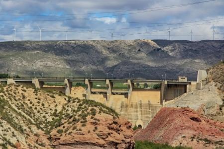 small dam in an area desertica