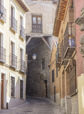 toledo town: old narrow medieval streets of the resort town of Toledo, Spain