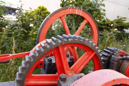 steam engines: mechanisms gears from old pipes and steam engines