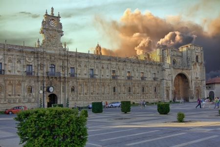 marcos: ancient palace in the Plaza de San Marcos, Leon, Spain