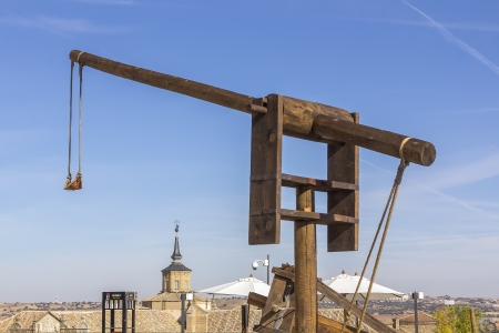 ancient catapult around the XV century photo