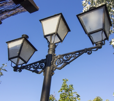 nice old style street lamp photo