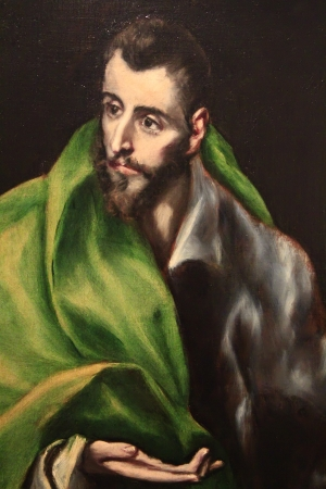 Toledo Sep 2013, original paintings exhibited in the House of the painter El Greco. In Toledo Spain 2013