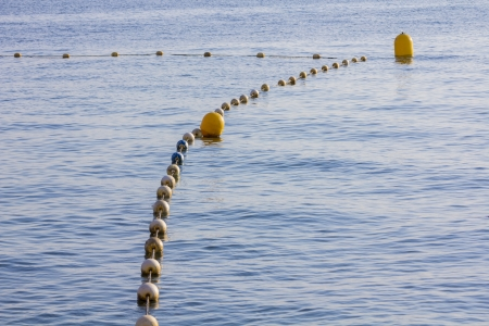 row of buoys to maintain a network photo