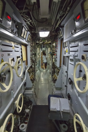 control batteries, an old submarine photo
