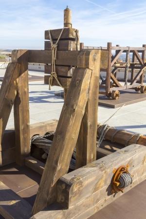 xv century: ancient catapult around the XV century
