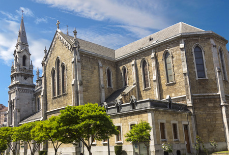 aviles: Cathedral of aviles in Asturias, Spain Stock Photo