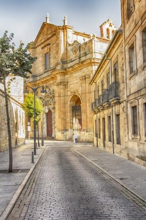 salamanca: medieval buildings in the historic city of Salamanca, Spain Stock Photo