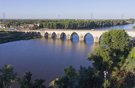 novosibirsk: long bridge over Blue River