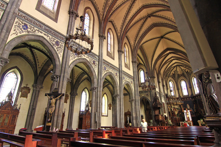 aviles: Interior of the Cathedral of Aviles in Asturias, Spain