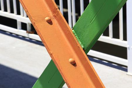 welded: welded iron beams