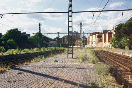 abandoned railway walk photo
