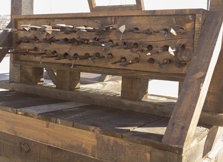 arbalest: ancient crossbow around the XV century Stock Photo