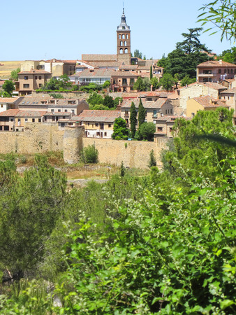 overview of the city of Segovia, Spain photo