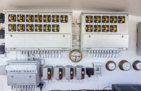 electric control room of a ship photo