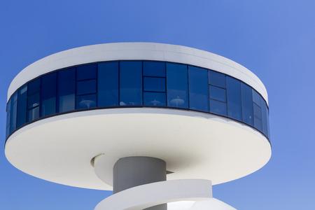 oscar niemeyer: AVILES, SPAIN - July 6: Modern Building public Niemeyer Cultural Center by architect Oscar Niemeyer in Spain, on July 6, 2013