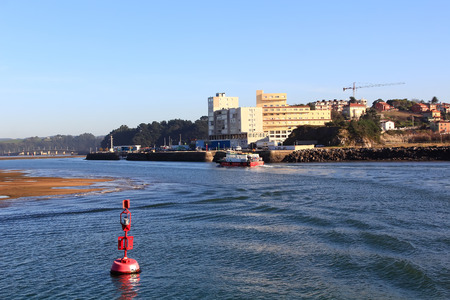 landscape of the city of Santander, Spain from the sea
